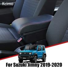 Kcimo-caja de almacenamiento Reposabrazos de coche, accesorios de Interior de coche, USB, para JB74 Jimny Suzuki, 2019, 2020
