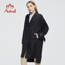 Clothing Trench-Coat Astrid Windbreaker Spring Black Autumn Long-Fashion New Hood 7511