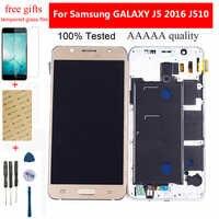 Für Samsung Galaxy J5 2016 LCD Bildschirm SM-J510F J510FN J510G J510 Touchscreen Digitizer Sensor + LCD Display Montage Mit rahmen