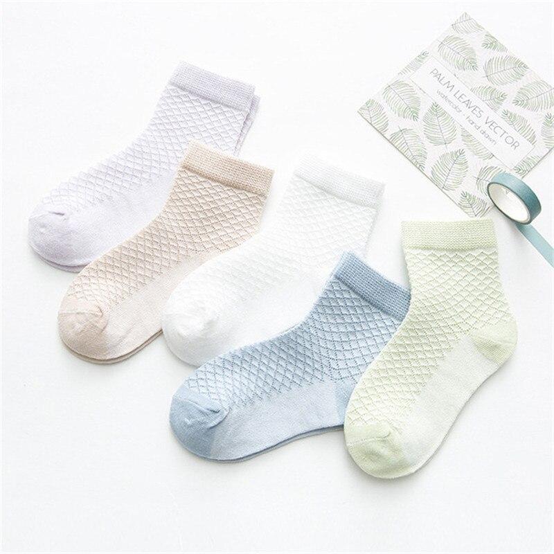 5 Pairs/Lot Baby Socks  For Newborns Infant Cute Cartoons Soft Cotton Socks Summer 0-24 Month Boy Girl Lovely Mesh Kids Gift CN 2