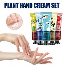 Green Plant Moisturizing Hydrating Hand Cream Avocado Blueberry Milk Rose Lily For Winter Hand Care Nourishing Skin Care TSLM1