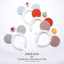 Ears-Headband Hair-Accessories Cute Bow for Women Girls Turban Fashion 1PCS Fleece Sun-Flower
