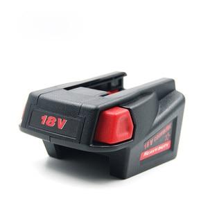 Image 4 - Krachtige USB Batterij Adapter Converter voor Milwaukee M18 18V Li Ion Batterij V18 Li Ion Batterij Batterijen Converter Adapter