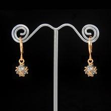 Женские длинные серьги с натуральными камнями золотистые женские