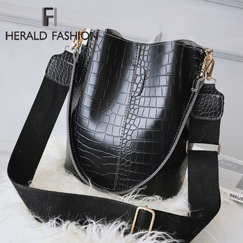 2020 Fashion Women Alligator Shoulder Bag Big capacity Hand Bag  Elegant Design Ladies Shopping Bags PU Leather Bucket Handbag women bag big capacity female color blocking handbag fashion shoulder bag purse ladies pu leather crossbody bag