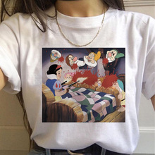 DISNEY t shirt 2020 spoof Snow White printed European and American short-sleeved