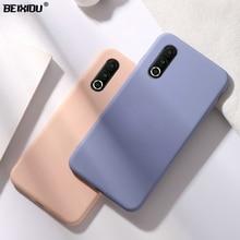 купить Liquid State case for Meizu 16s TPU silicone soft case for Meizu 16s Pro Matte Color Back cover Case capa дешево