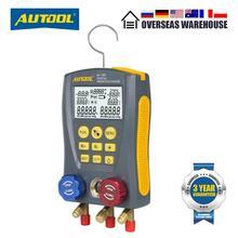 AUTOOL LM120 Digital Manifold Refrigeration DY517 Pressure Gauge HVAC, Cold Medium, Car Air Conditioning Tester