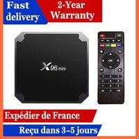 Mejor caja de Iptv X96 mini Dispositivo de tv inteligente Android 9,0 caja de tv 1G 8GB 2G 16 reproductor multimedia GB x96 Amlogic S905W inteligente ip decodificador