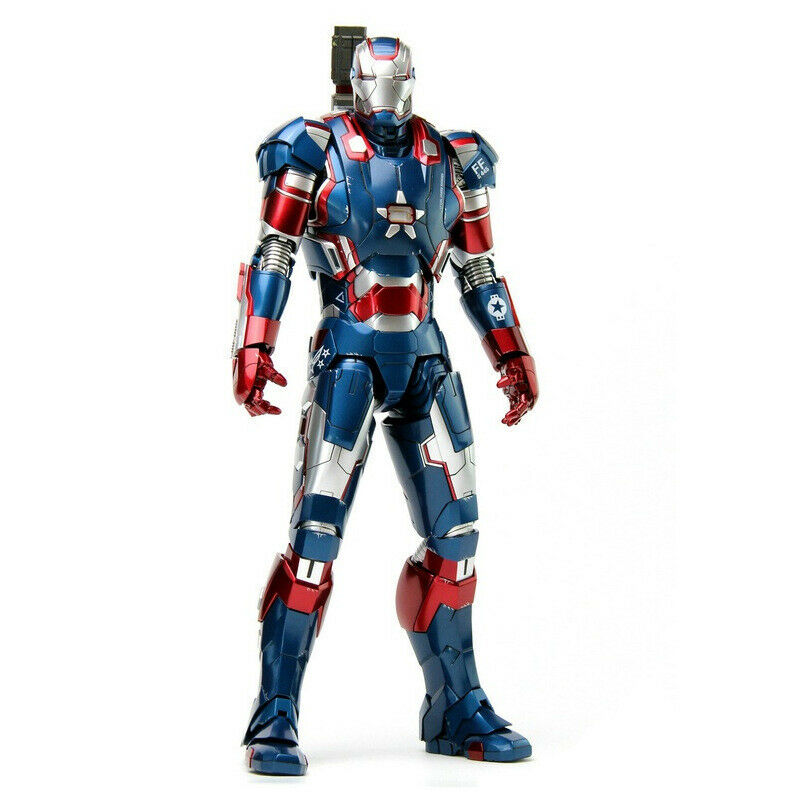 Iron Man Diecast Iron Patriot Armor MMS195 1/6 Scale PVC Action Figure  Iron Man Figure Model Toys Collection Doll Gift