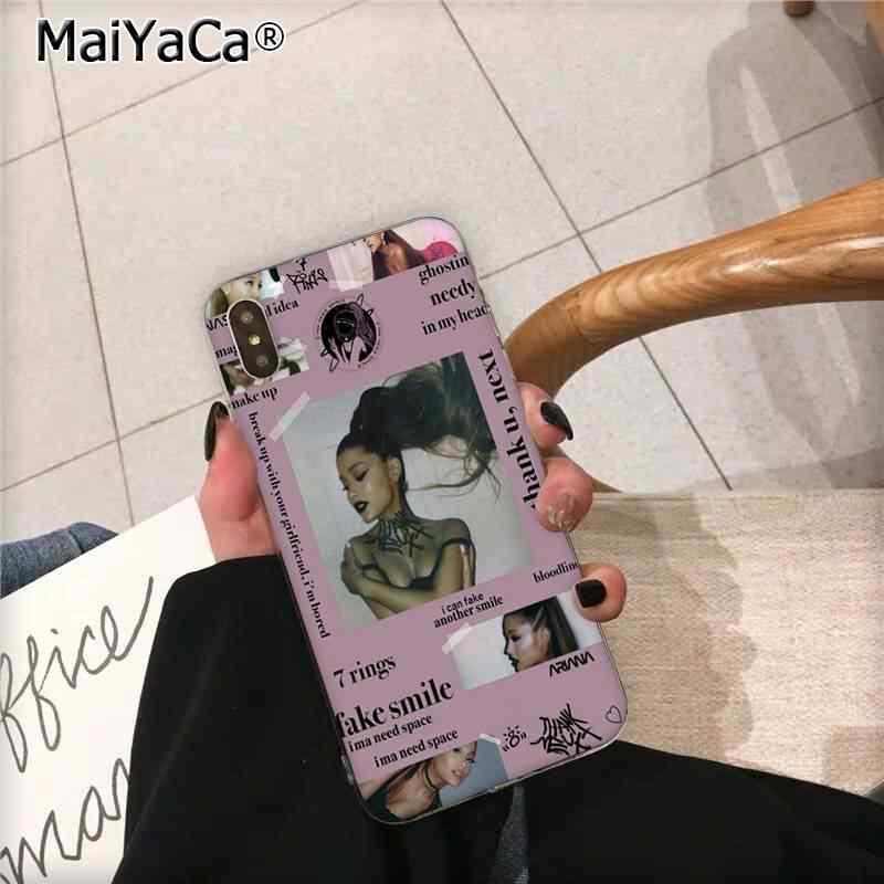 MaiYaCa 感謝 U 次アリアナグランデ DIY 塗装美しい電話ケース iphone 11 プロ XS 最大 8 7 6 6S プラス X 5 5S 、 SE XR カバー