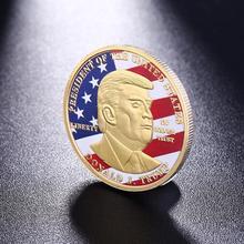 Юбилейная монета с изображением победителя Трампа, невалютная Биткоин, художественная коллекция, туристические подарки, коллекционная Под...