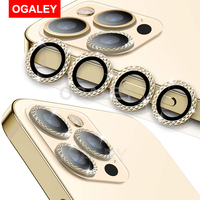 3Pcs Glas Für iPhone 12 Pro Max Kamera Objektiv Protector Für iPhone 11 Pro Max 12 Pro Gehärtetem Glas bildschirm Schutz Metall Rahmen