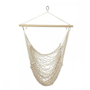 Outdoor Hammock Garden Hang Lazy Chair Swinging Indoor Outdoor Furniture Hanging Rope Chair Swing Chair Seat Bed Travel Camping cotton rope garden swing chair thicken portable hammock with foot pad wooden indoor outdoor swing relax camping hang chair seat