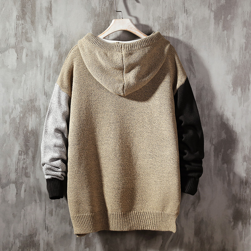 Fashion Sweaters Homme Hooded Jumper Casual Pullover hoodies Sweatshirts mens Vintage Hoodie Long Sleeve Knitted pullover Tops 4