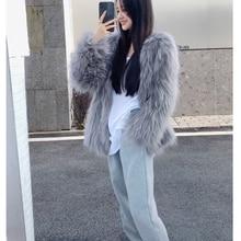 Fur Coat Mink-Fur Integrated Long Women's Medium Youth New-Tank
