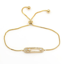 Hot Sell Free Shipping Top Quality Round Shape CZ Bracelet White Gold Color Trendy Women Bracelets