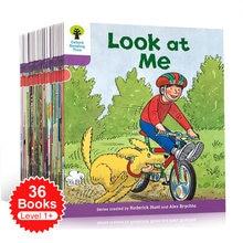 36 livros/conjunto oxford leitura árvore nível 1 + biff, chip & kipper mão livro ajudando criança a ler phonics inglês história livro de imagens