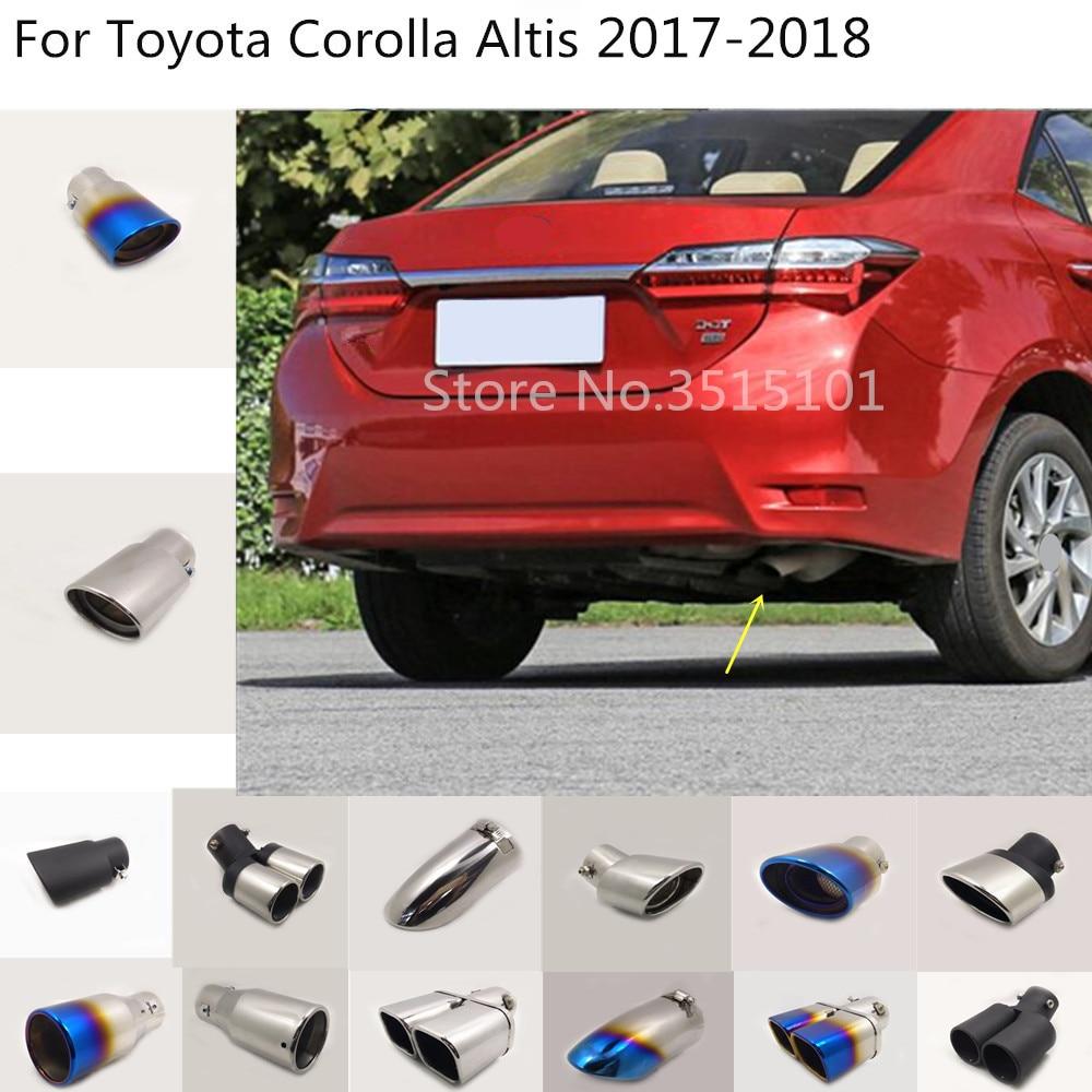 Otomobiller ve Motosikletler'ten Egzoz Manifoldları'de Araba vücut şekillendirici Paslanmaz çelik kapak susturucu boru çıkışı adanmış egzoz İpucu kuyruk 1 adet Toyota Corolla Altis 2017 Için 2018 title=