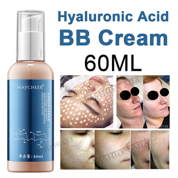 New 60ML Hyaluronic acid bb cream skin care liquid foundation for Whitening Brightening Hydrating Concealer Dry Skin