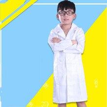 Vêtements unisexes pour enfants, Costume de médecin et d'infirmière, uniforme d'infirmière et de scientifique pour enfants, Simulation pour jouer