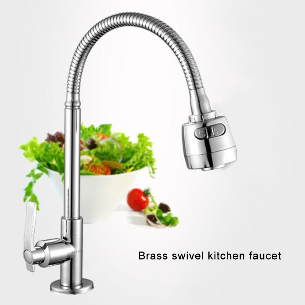 Flexible Kitchen Tap Head 360° Rotatable Faucet Water Saving Filter Sprayer Cold And Hot Flexible Kitchen Faucet