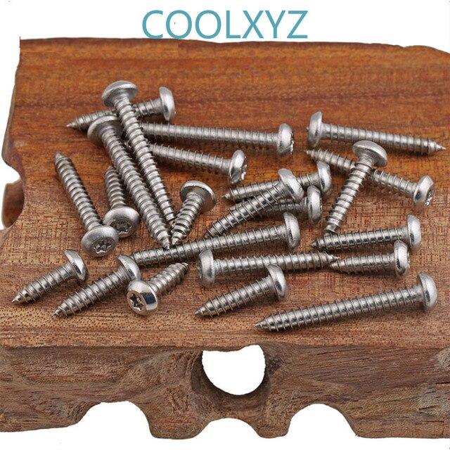 Vis auto-taraudantes à Six lobes | En acier inoxydable PA M2.9M3.5 tête de casserole prune avec noyau de pilier, vis antivol 10 pièces