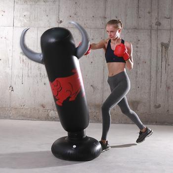 Nadmuchiwany worek bokserski dla dorosłych dzieci bokserski dziurkacz kopiący worek z piaskiem PVC nadmuchiwany Tumbler siłownia dla dzieci boks cel treningowy tanie i dobre opinie CN (pochodzenie) Kategoria worka z piaskiem 8 lat