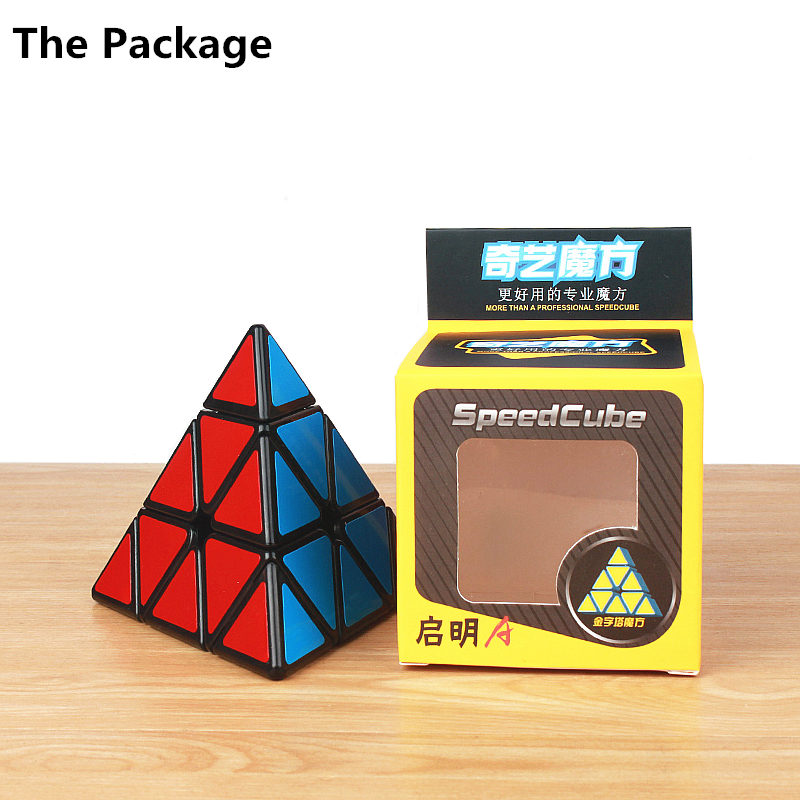 Купить с кэшбэком QIYI Pyramidcube Speed Magic Cube sticker less Puzzle Twist Pyramid Cubes Educational Toys For Children Kids cube Gifts