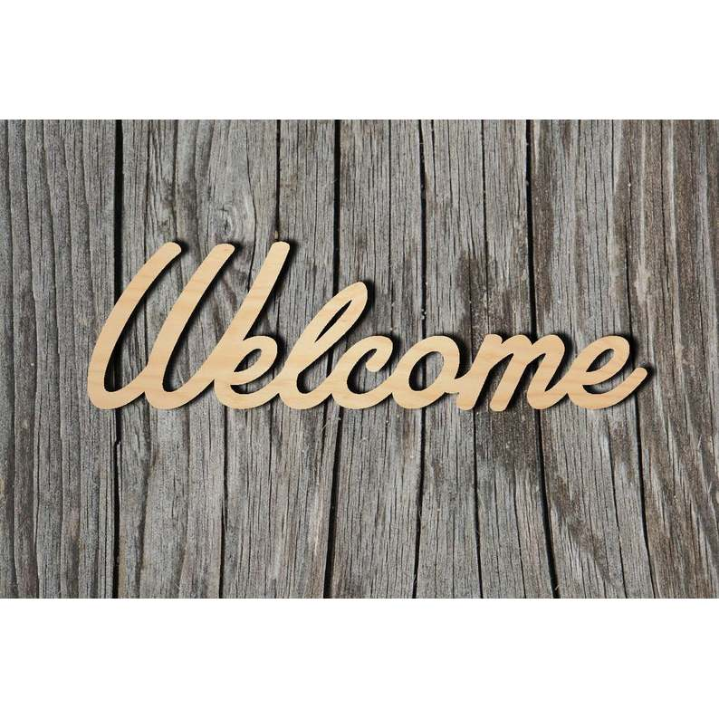 Welcome Wood Sign Multiple Sizes Laser Cut Unfinished Wood Cutout Shapes Wood Diy Crafts Aliexpress