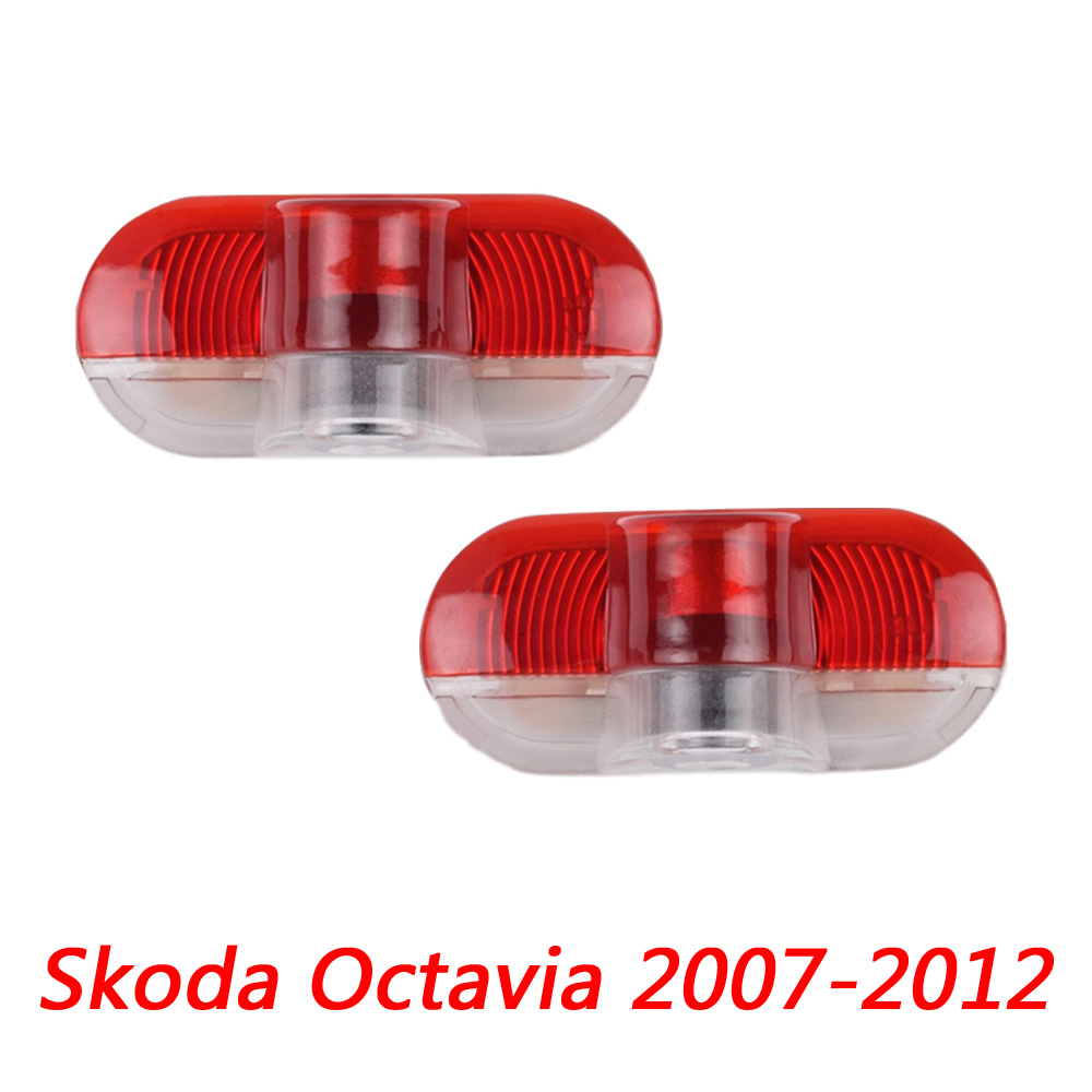 Car LED Door Logo Welcome Lights Laser Projector For Skoda Octavia 1Z 2004 2005 2006 2007 2008 2009 2010 2011 2012 2013