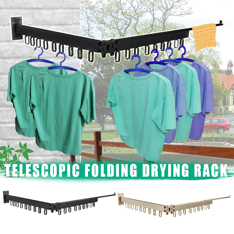 2019 Hot Multi-Function Expandable Drying Rack Hanger 360 Degree Rotating For Bathroom Balcony S7 #5