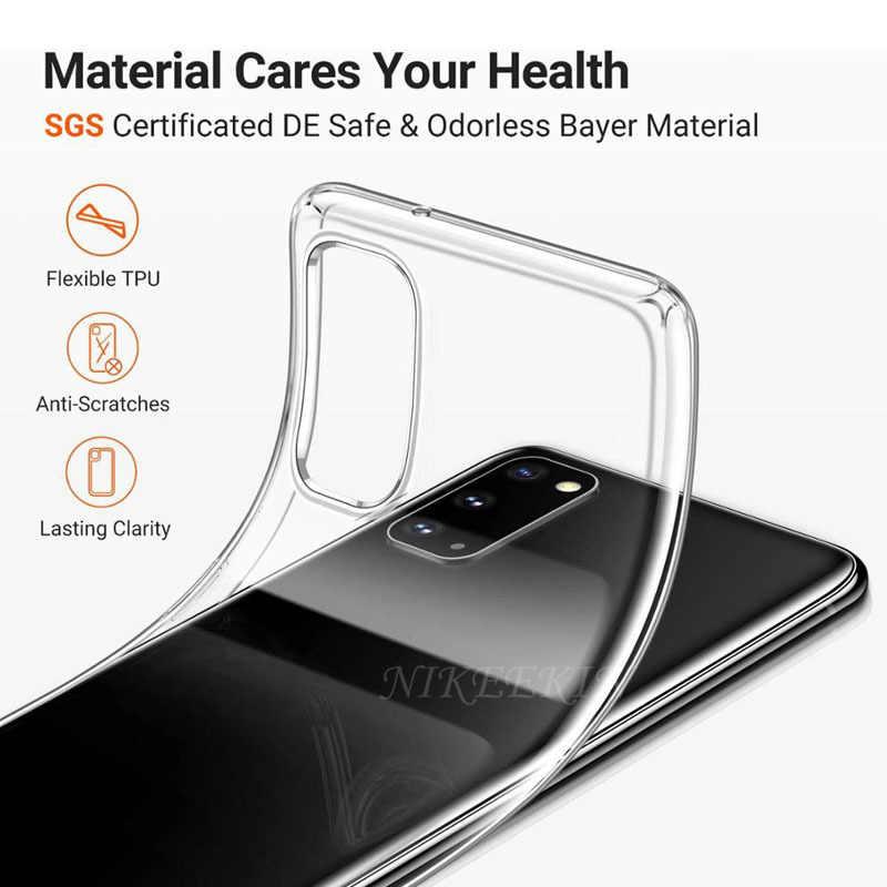 Klar Weiche TPU Silikon Telefon Fällen Für Samsung A01 A31 A11 A21S A41 A50s A70s A10s A20e A30s A80 A90 a40 A60 A51 A71 5G Abdeckung