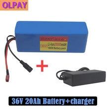 36v 10s3p 20ah 500w alta potência capacidade 42v 18650 bateria de lítio 20000mah bicicleta elétrica scooter bms + carregador