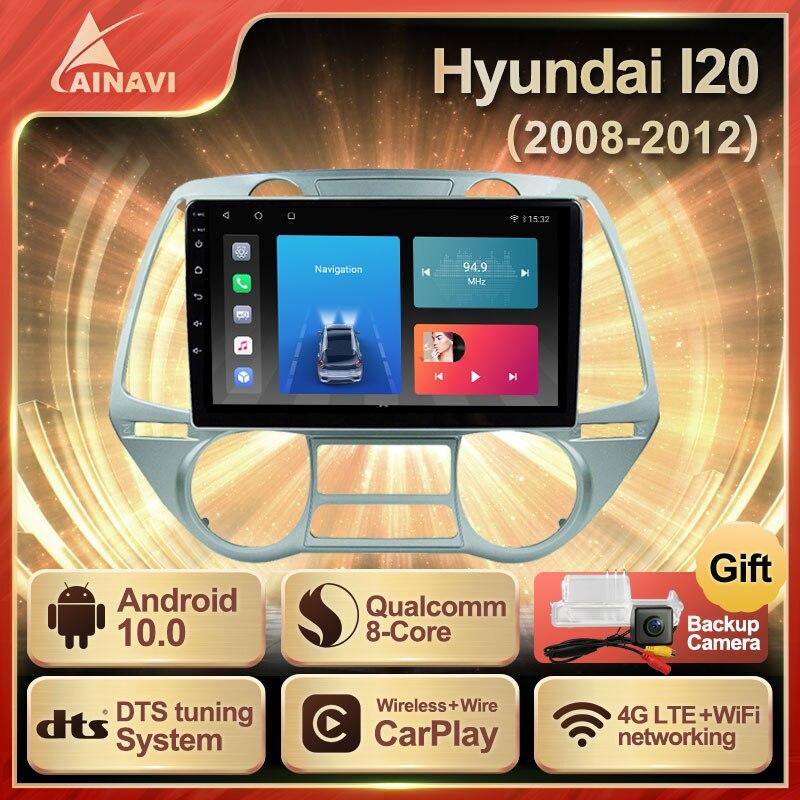 Автомобильный радиоприемник Android 10 QLED экран для Hyundai Grand I20 2008-2012 автомобильный стерео Мультимедийный видеоплеер навигация Carplay No 2din