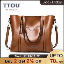 TTOU Mode Große Kapazität Frauen Tote Tasche Qualität Leder Für Weibliche Schulter Tasche Freizeit Frauen Handtasche der Dame Messenger Taschen