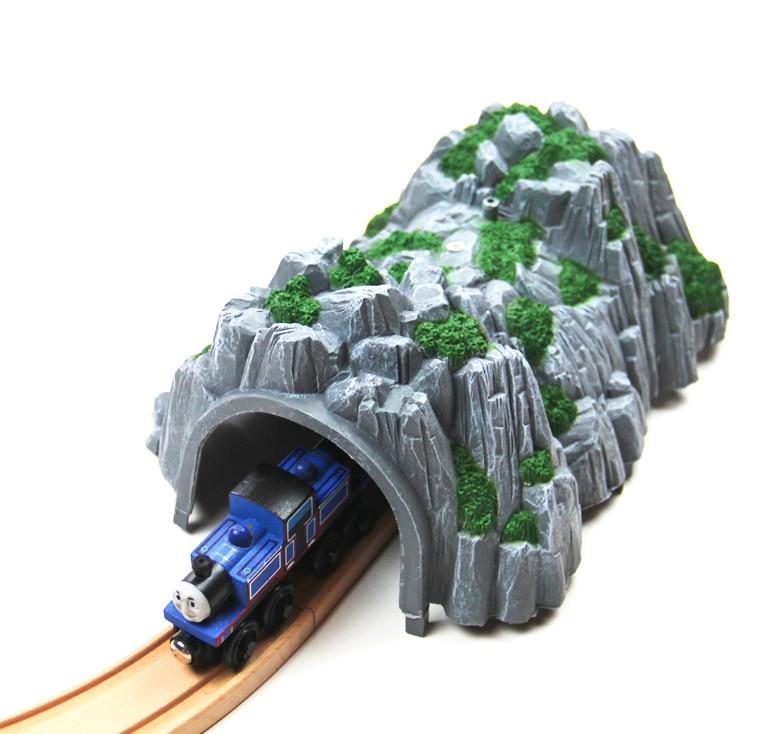 Пластиковый туннель Rockery Tunnel Track Train Slot Railway Аксессуары оригинальная игрушка Compatibel все деревянные поезда Track подарки для детей