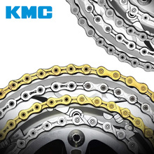KMC Chain 116 Links 9/10/11 Speed Bike Chain With Missing Connect Link Silvery Golden Light MTB Road Racing Bicycle Chain genuine kmc x8 x9 x10 x11 mtb bike chain 8 9 10 11 speed bicycle chain 116 links steel road bike chain with missing link