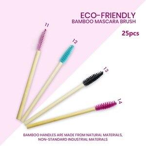 25pcs Bamboo Handle Eyelash Br