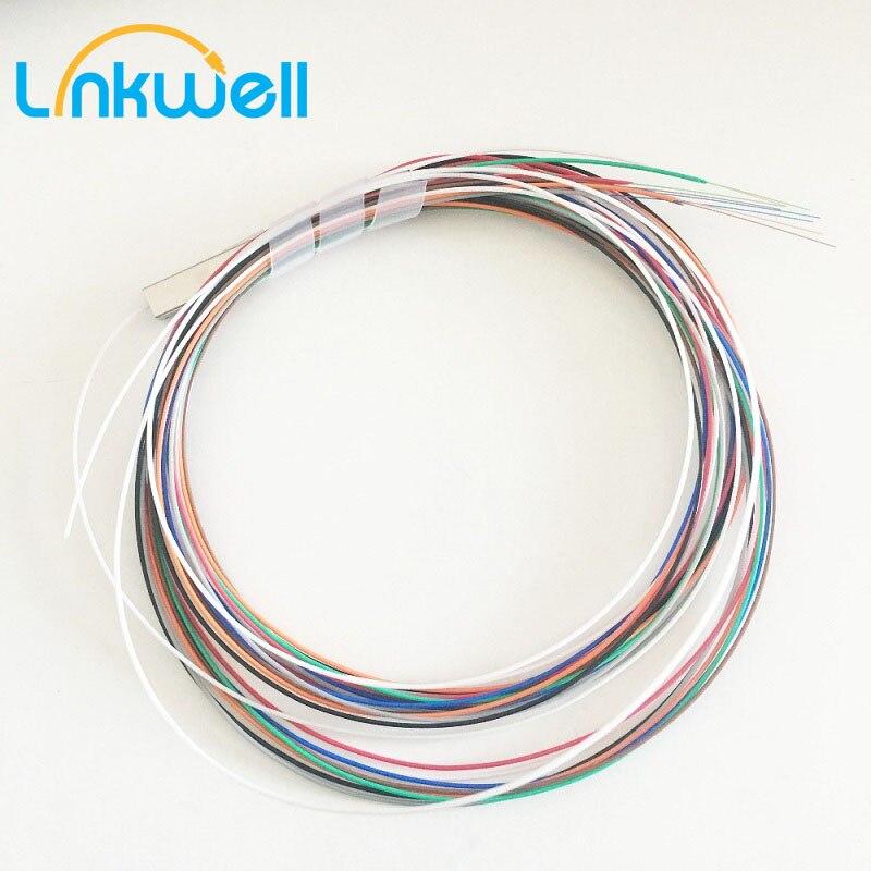 10pcs/Lot 1x4 1x8 1x16 High Quality PLC SM 0.9mm Steel Tube FTTH Fiber Optic PLC Splitter 1m Blockle