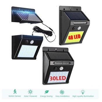 Newest Solar Power Street Light 120/100LED PIR Motion Sensor Lamps Outdoor Street Waterproof Wall Lights Garden Security Lamp in