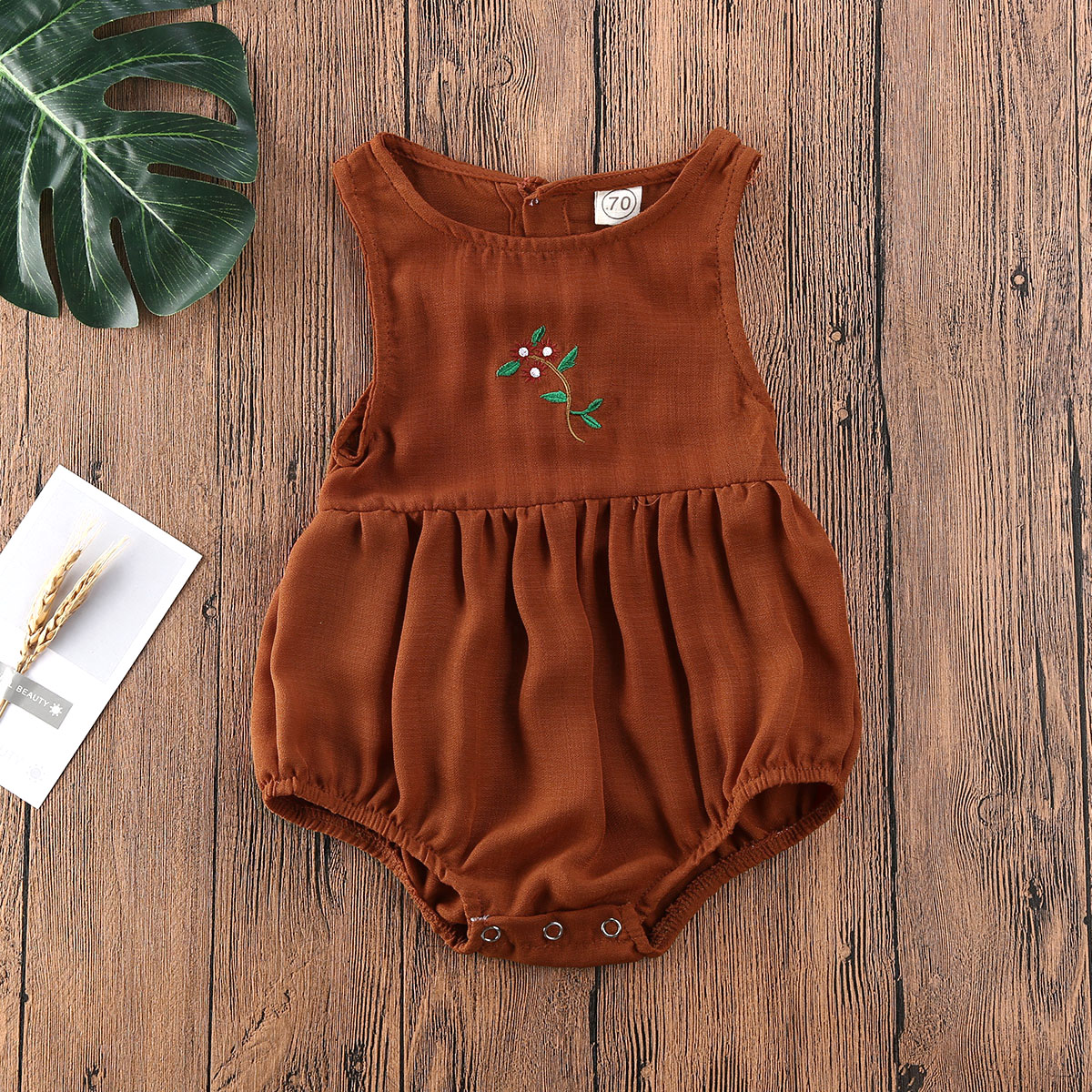Pudcoco Newborn Baby Girl Clothes Flower Sleeveless Cotton Romper Jumpsuit One-Piece Outfit Playsuit Clothes