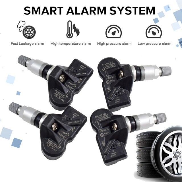 4Pcs 3AA907275 3AA907275B 3AA907275D For Volkswagen CC Tiguan Car Tire Pressure Monitoring System Sensor 433Mhz TPMS Sensor