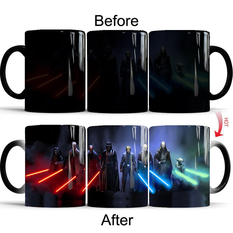 2019 New 350mL Star Wars Magic Mugs Coffee ale Mug Novelty Heat Reveal Cup Color Changing Ceramic Cups Creative Gifts