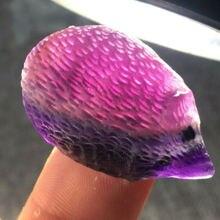 Faroot натуральный резной флюорит Ежик кварц польский Кристалл камень Исцеление нерегулярные Рейки Исцеление
