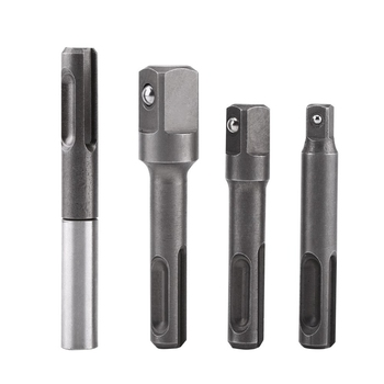 New SDS Plus Shank to 1/4 Inch Hex Adapter + 1/4 Inch 3/8 Inch 1/2 Inch Square Drill Bit Holder Connector for Screws Nuts 3 inch