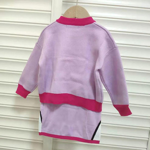 Image 2 - Mùa Đông Quần Áo Trẻ Em Mùa Thu Bé Gái Đan Weater & Váy Dễ Thương Hàn Quốc Vịt Daisy Thêu Cho Bé Gái Bộ Quần Áo trang Phục