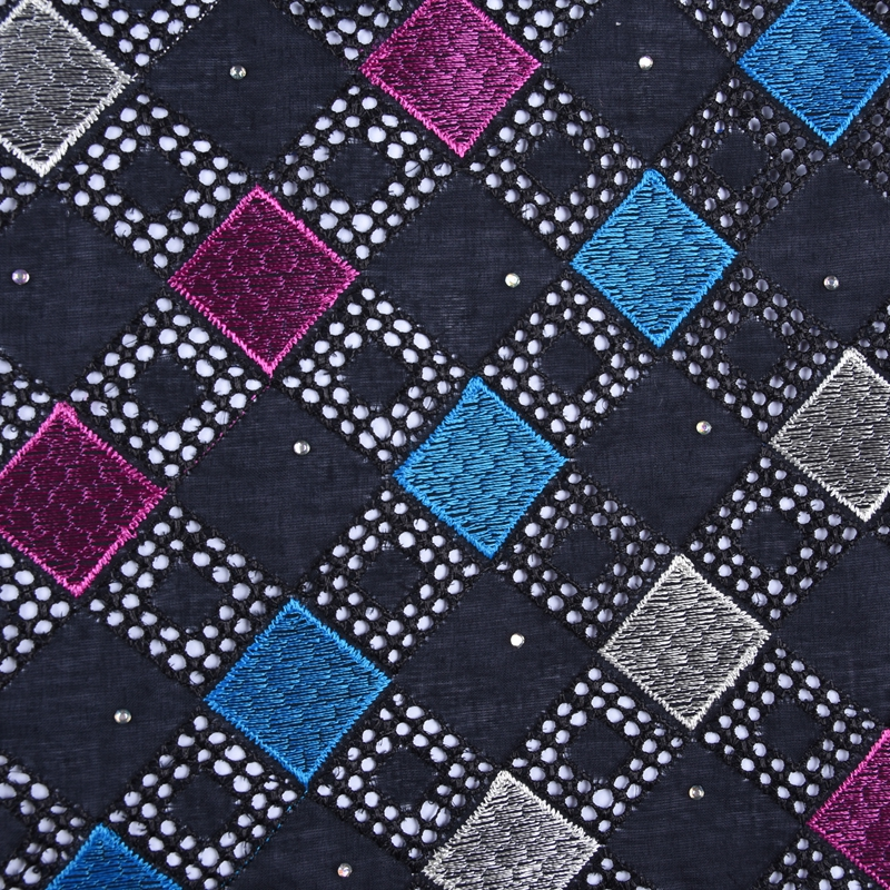 2019 Latest Swiss African Cotton Lace Fabric High Quality Swiss Voile Lace In Switzerland With Stones For Every Dress Sews F1671
