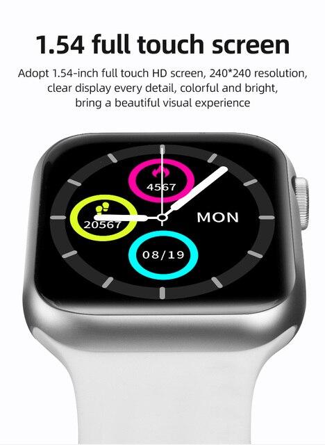 2021 Newest IWO 13 T500 Plus Smart Watch Men Women Fitness Tracker Bluetooth Call Sport Smartwatch PK IWO 12 W46 W26 HW22 AK76 3