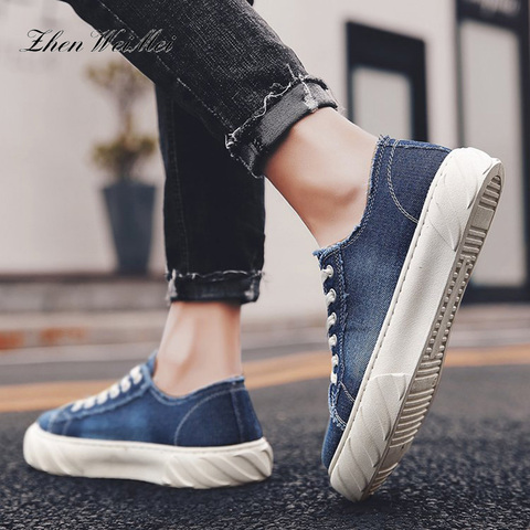 Fashion Men Canvas Shoes Men and Women Sneakers Low Classic Skateboarding Flats Canvas Casual Shoes Cowboy Low Top Couple Shoes Islamabad